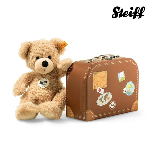 Fynn Teddy bear Steiff in a suitcase