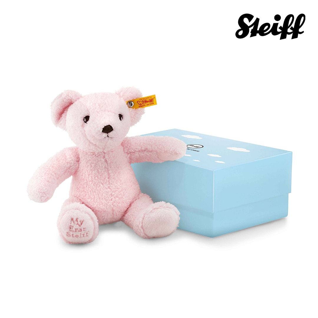 My first Steiff Teddy bear in gift box Pink