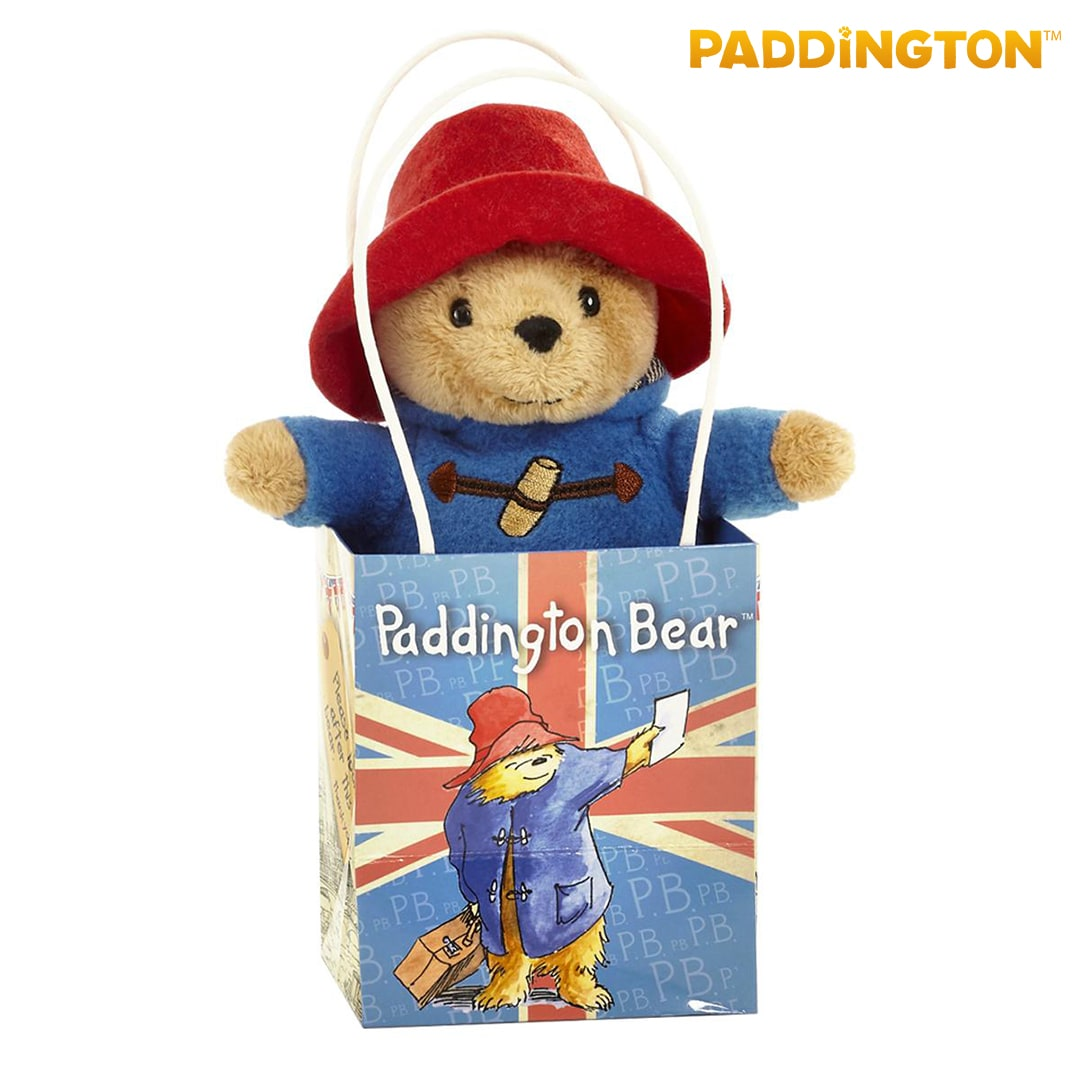 Classic Paddington Bear in Union Jack Bag