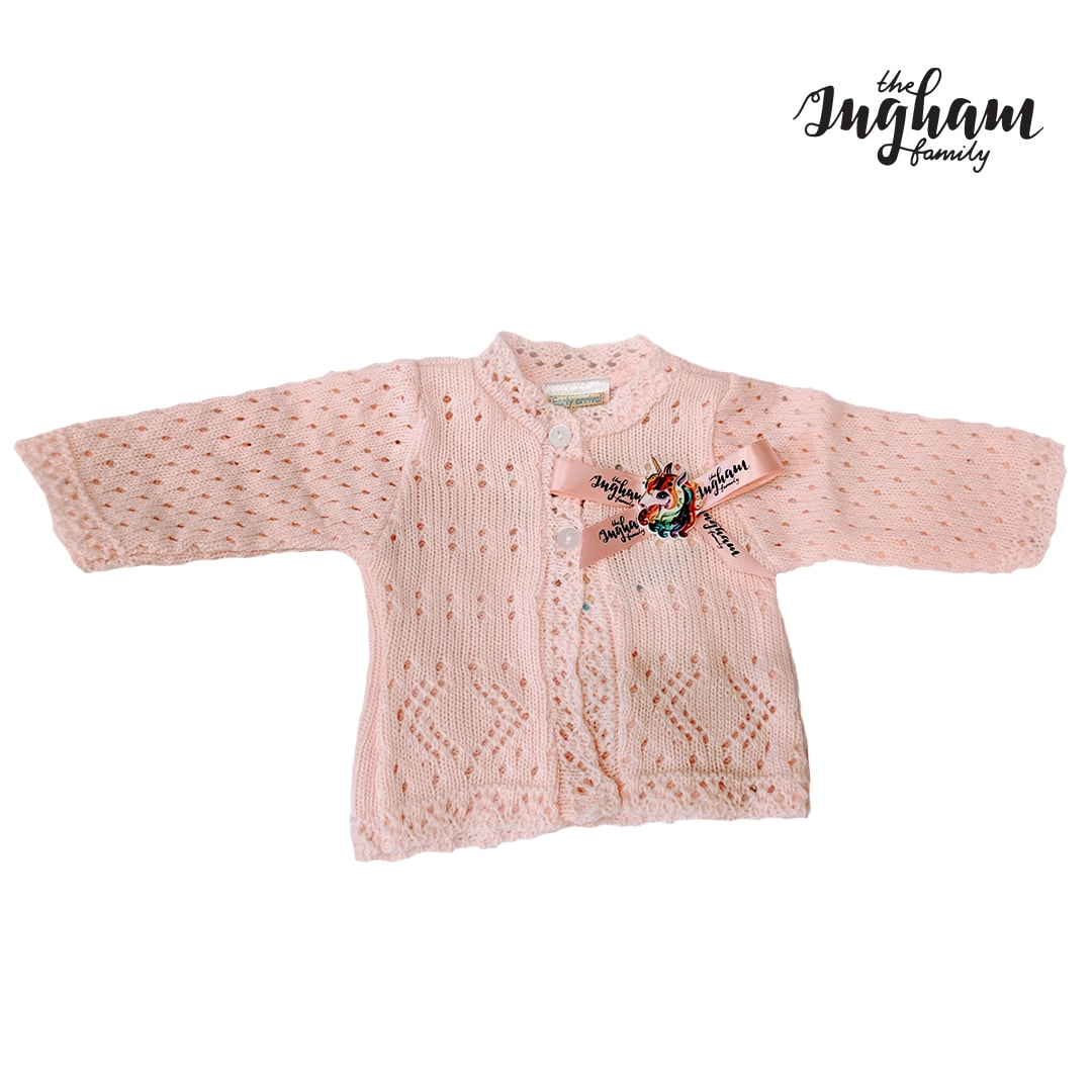 The Ingham Family Pink Cardigan Mary Shortle