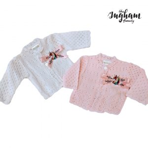 The Ingham Family Pink and White Cardigan Mary Shortle
