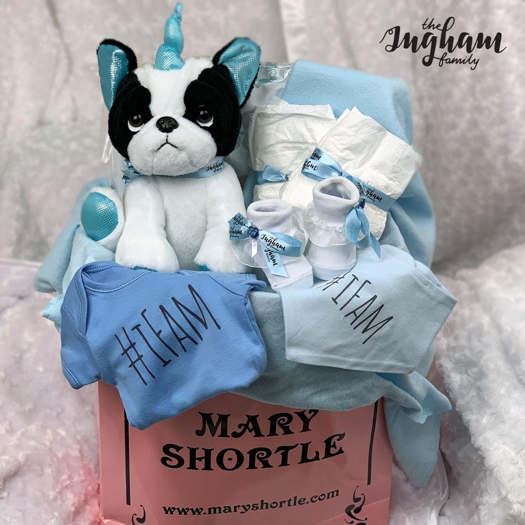 Mary Shortle The Ingham Family Hamper Blue