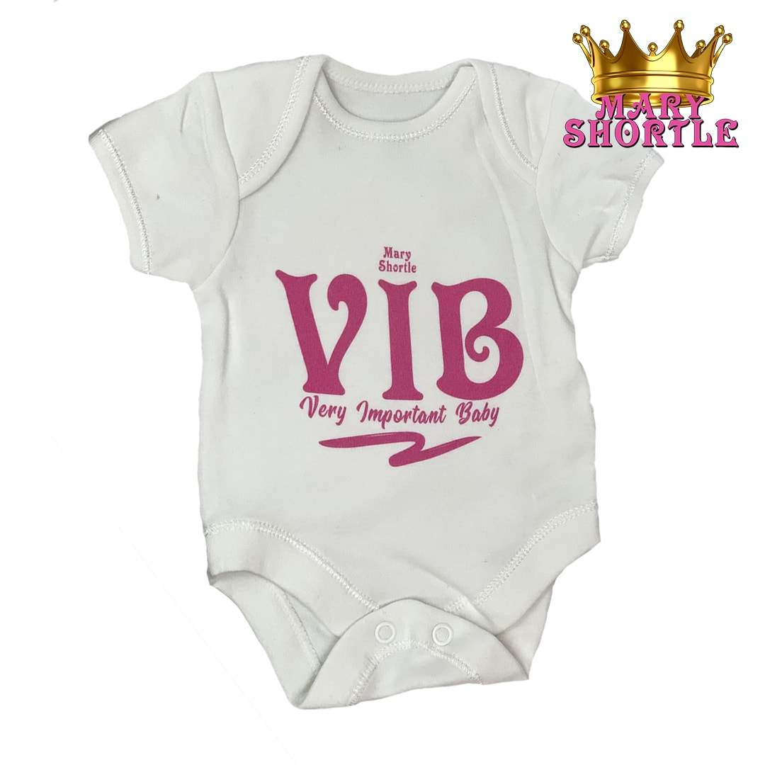 Mary Shortle Very Important Baby Vest