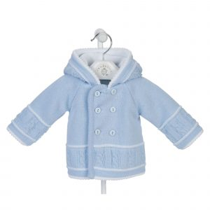 Blue Knitted Baby Jacket Mary Shortle