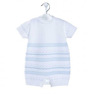 New Knitted Pointelle Romper Mary Shortle