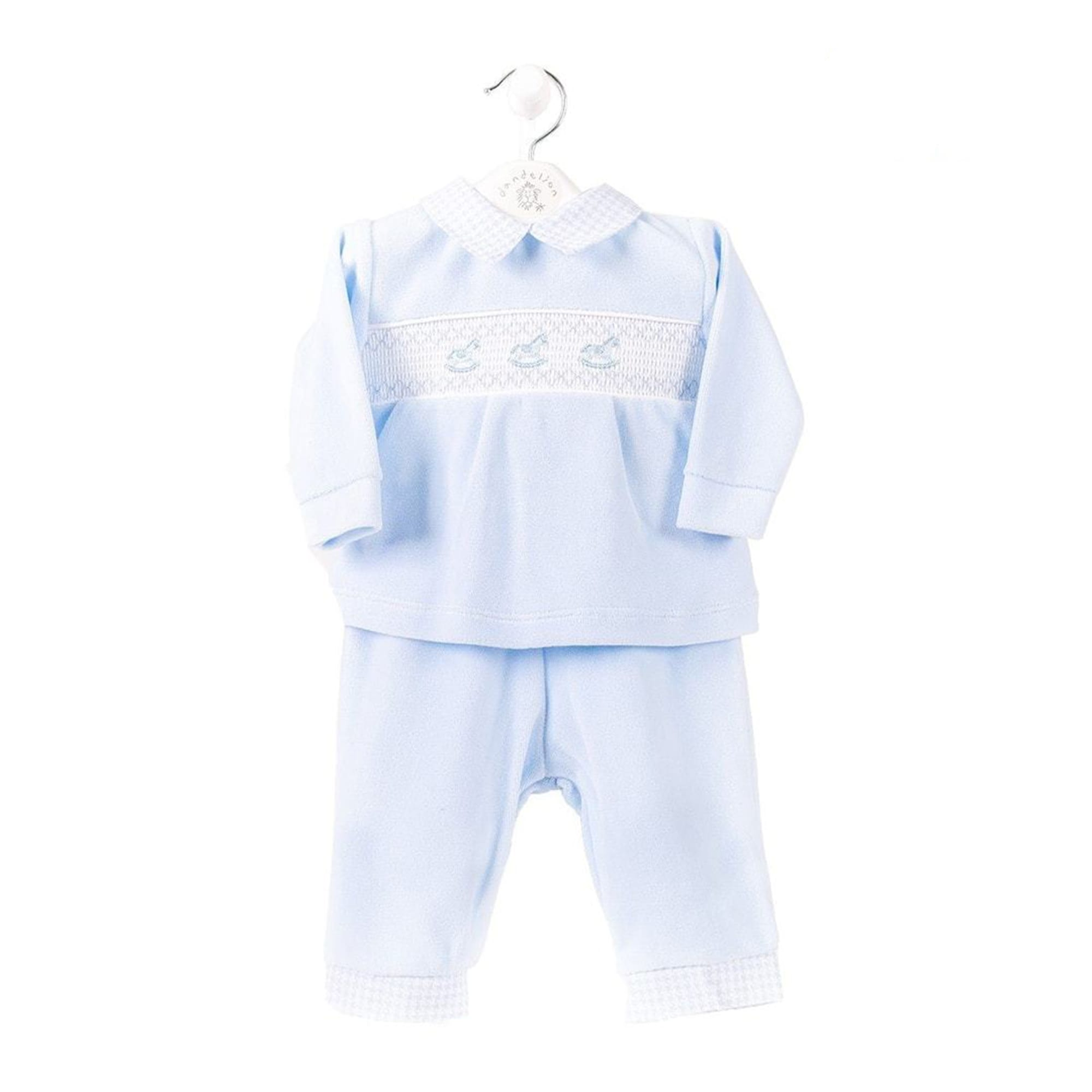 Rocking Horse Smocked Velour Set Mary Shortle