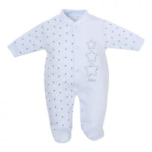 Triple Stars Cotton Sleepsuit Mary Shortle