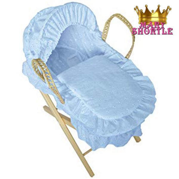 Blue Basket with Stand Hamper Mary Shortle