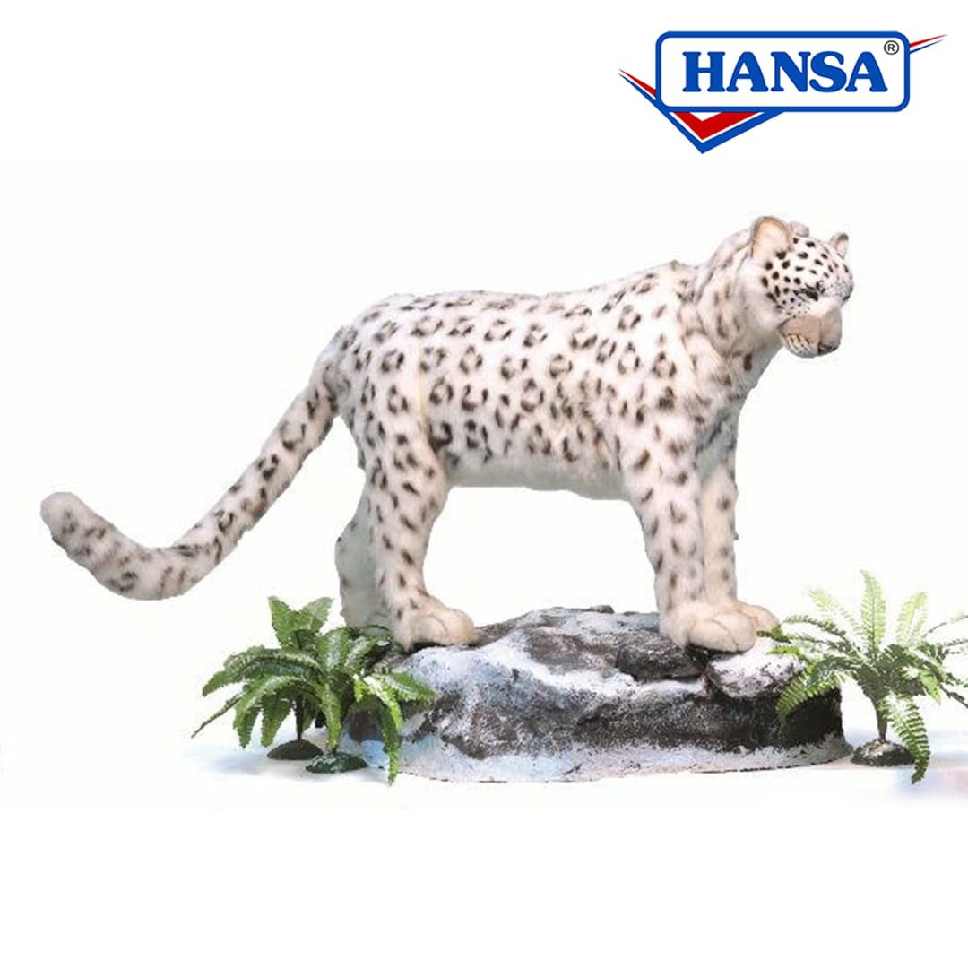 Hansa Animated Snow Leopard Standing Lifesize Mary Shortle