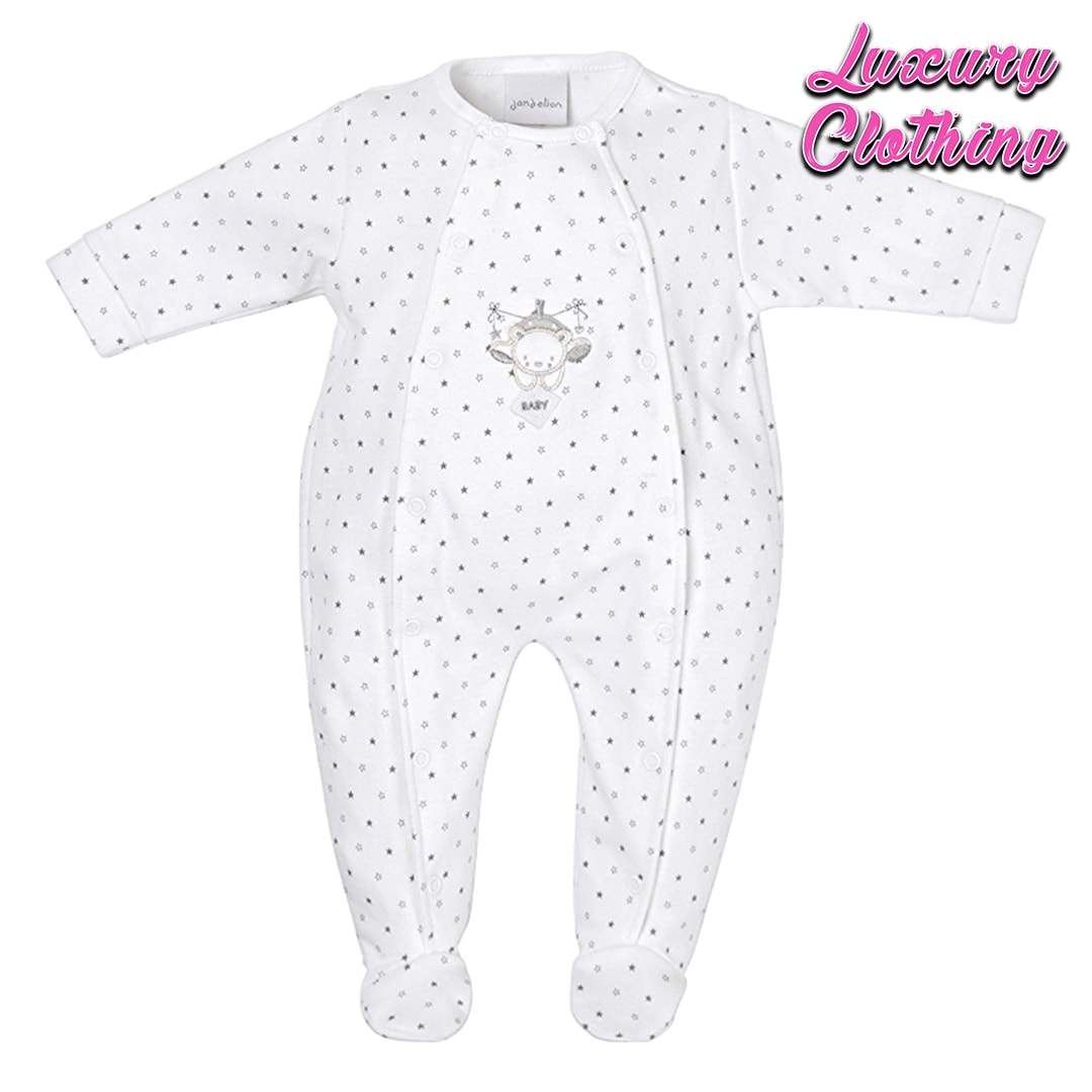 Tiny baby bear star printed onesie Luxury Clothing Mary Shortle
