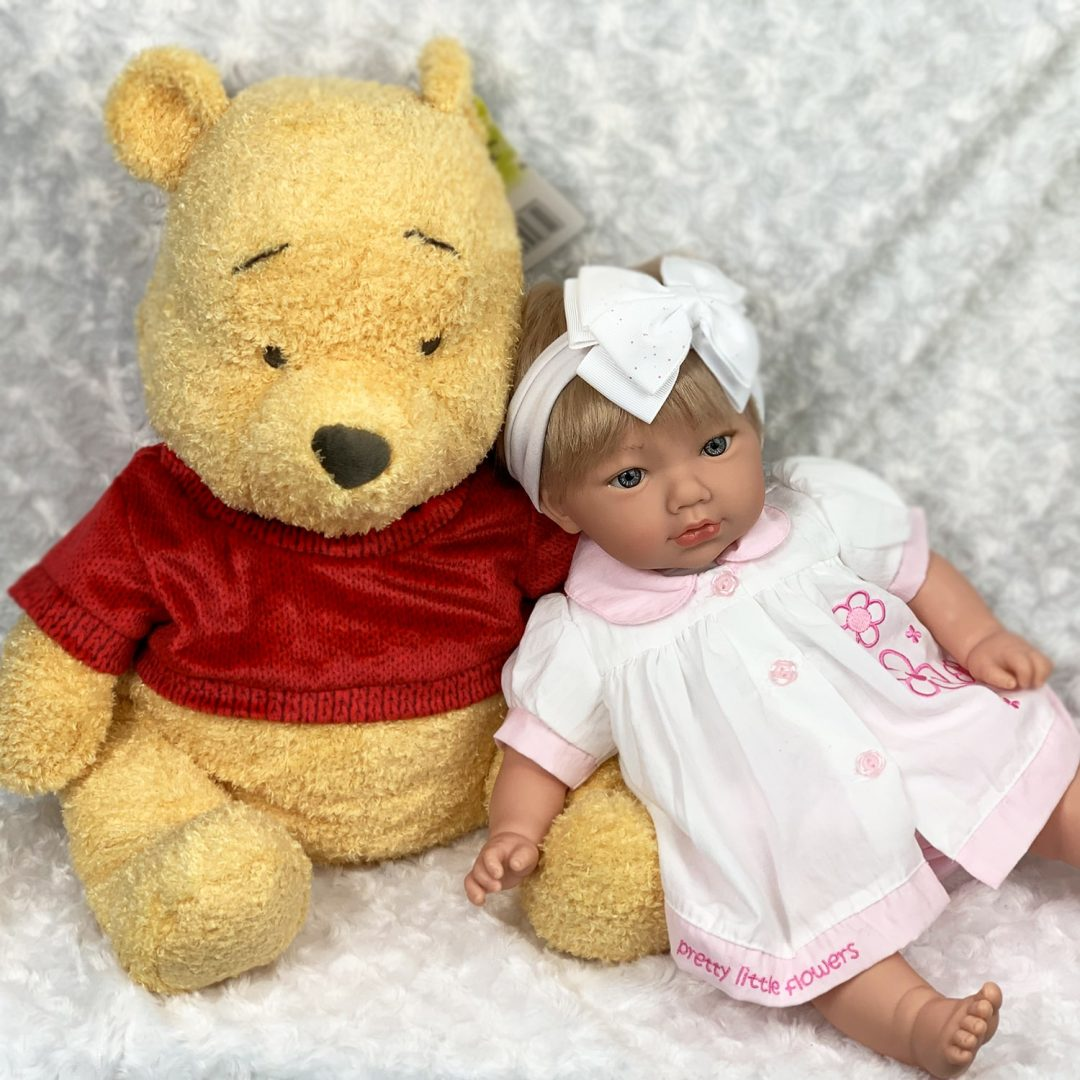 Huge Winnie the Pooh and Katie Doll Girl Mary Shortle