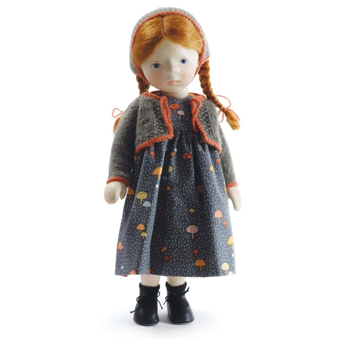 Red Head in Mushroom Print Dress Artist Doll Elisabeth Pongratz Mary Shortle