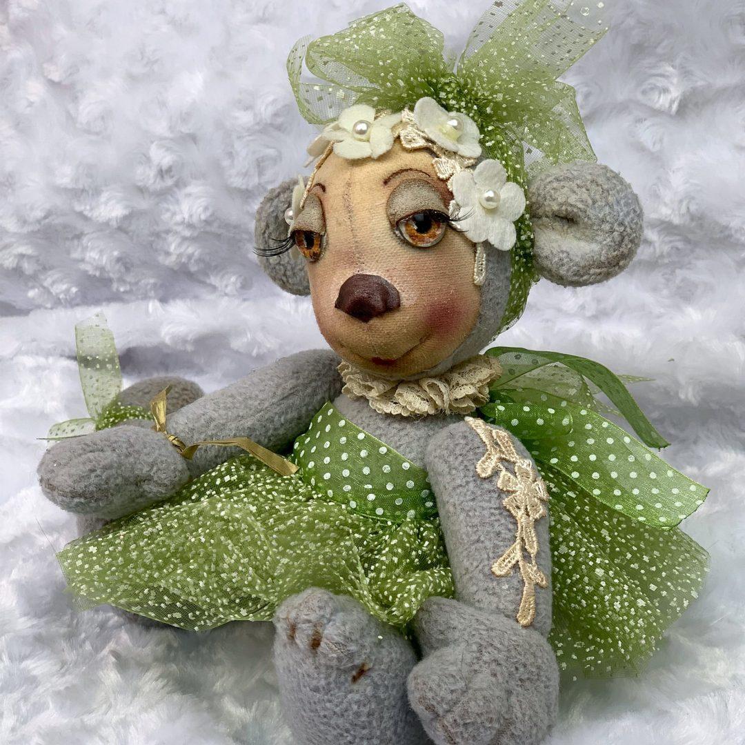 Dutch Artist Teddy Van Gossum Plush Fabric Hand Painted Mary Shortle