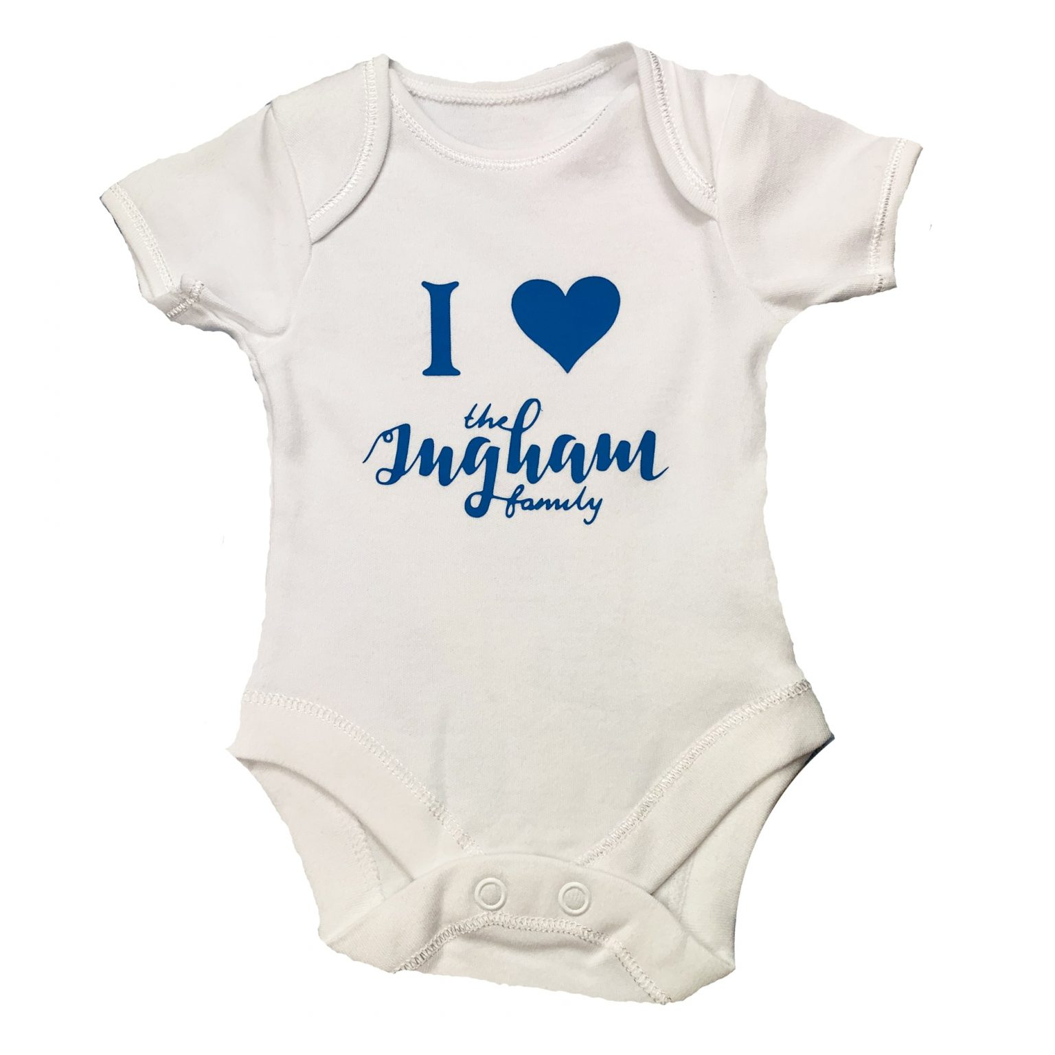 I love The Ingham Family Blue Text Vest Mary Shortle