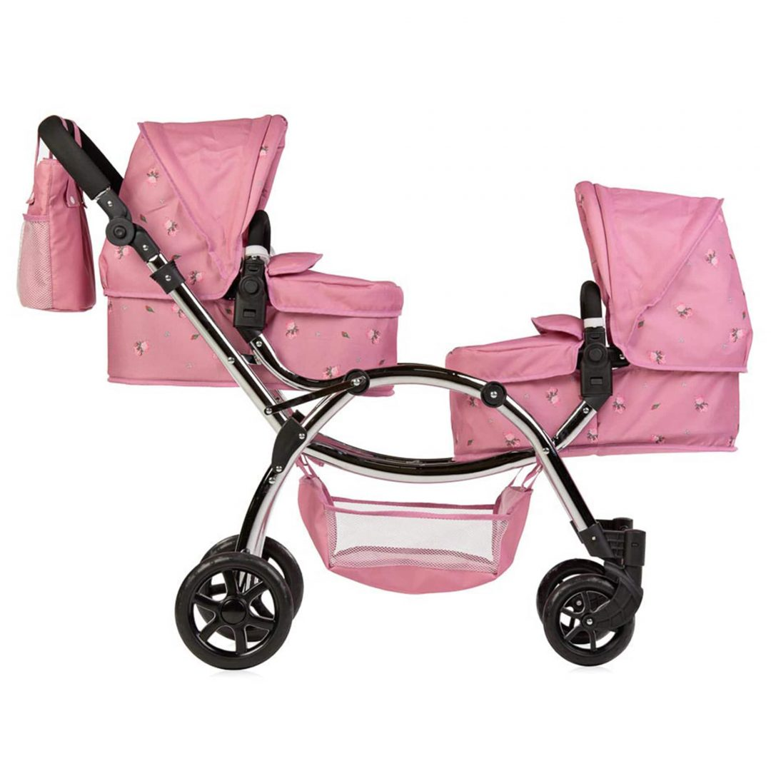 Roma Darcie Twin Dolls Pram Pink Mary Shortle