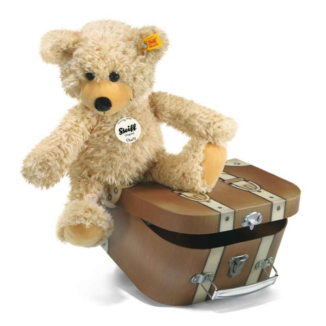 Charly Dangling Teddy Bear Suitcase Steiff Teddy Bear Mary Shortle