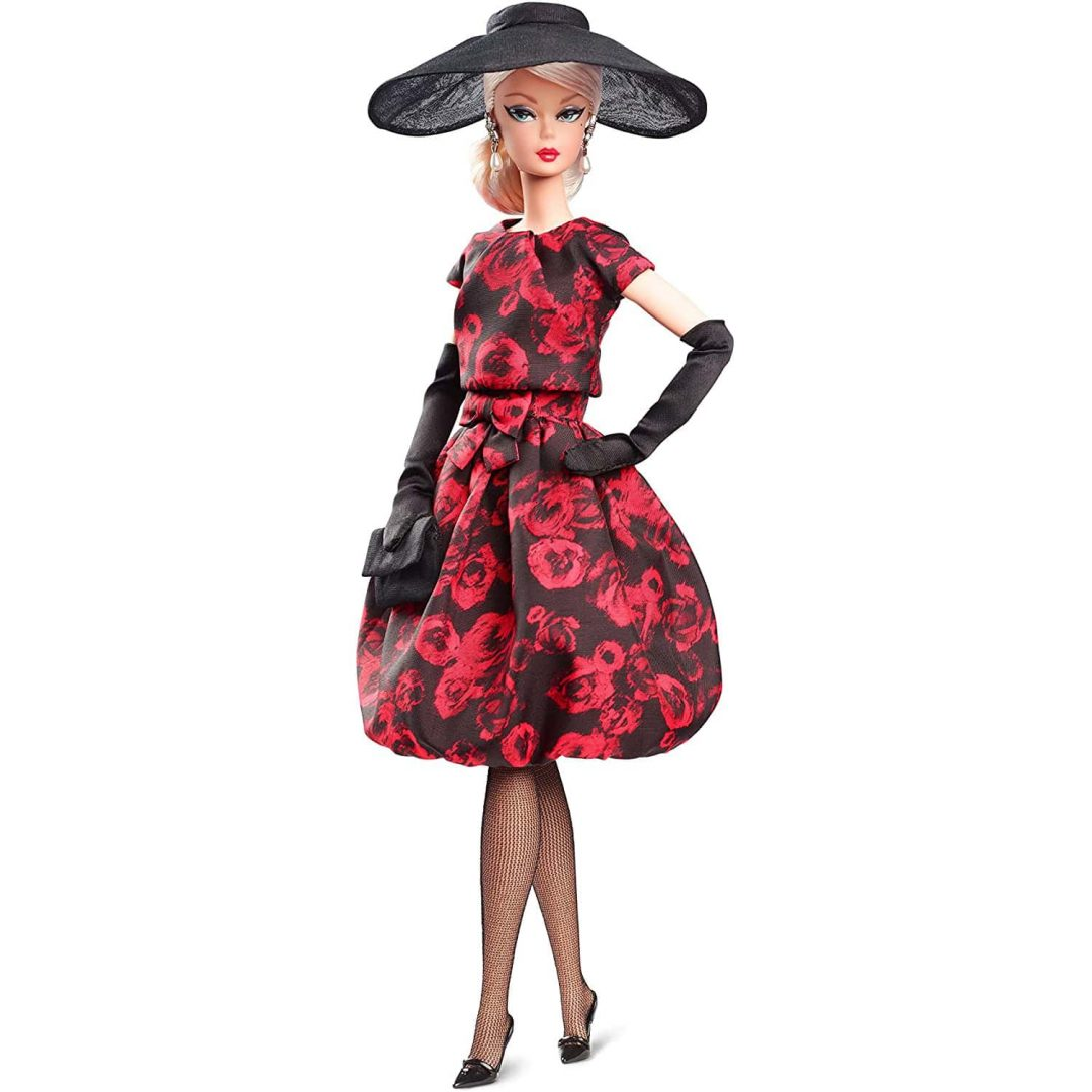 Elegant Rose Cocktail Dress Barbie Mary Shortle