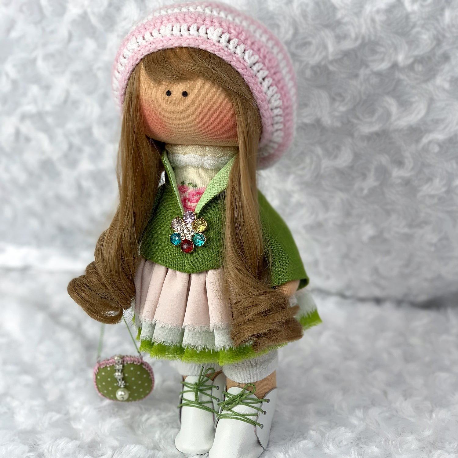 Fabric Russian Doll Mary Shortle Brunette