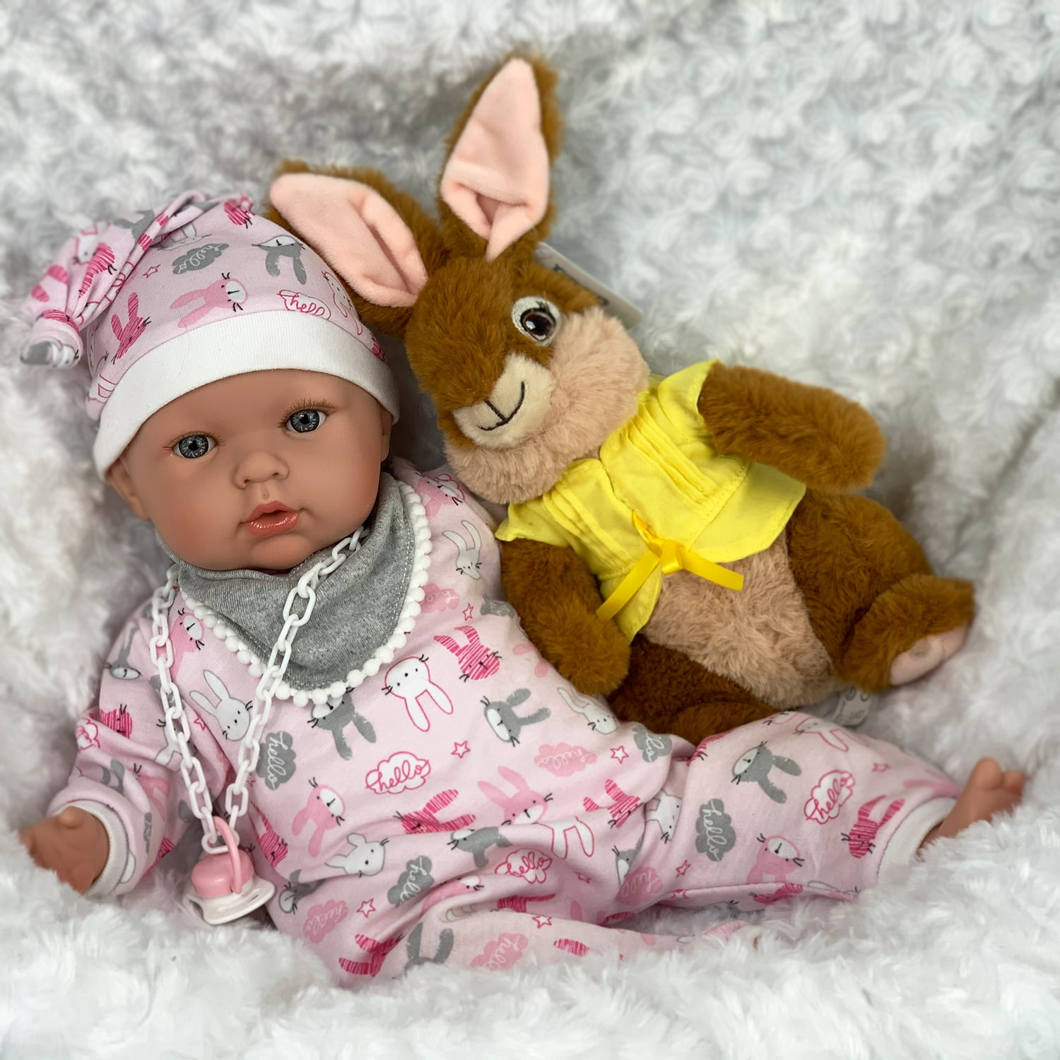 Anna-Ella and Rabbit Play Doll Mary Shortle