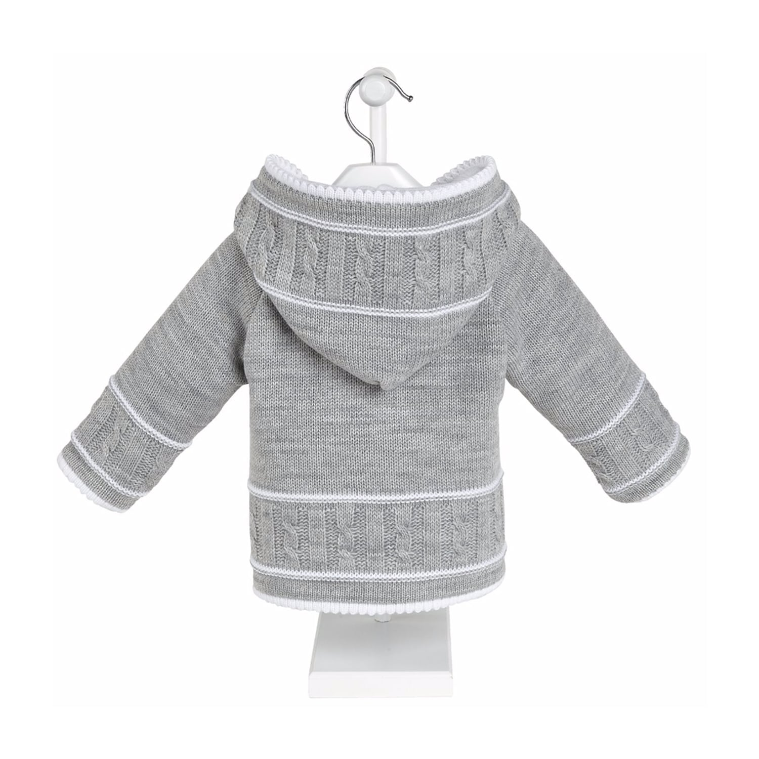Grey knitted Baby Jacket Mary Shortle
