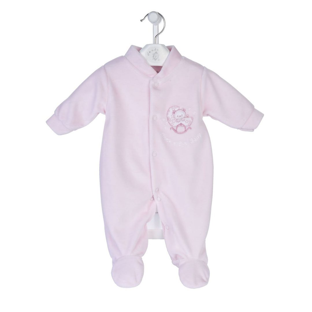 Rock-a-Bye baby Velour Sleepsuit Mary Shortle