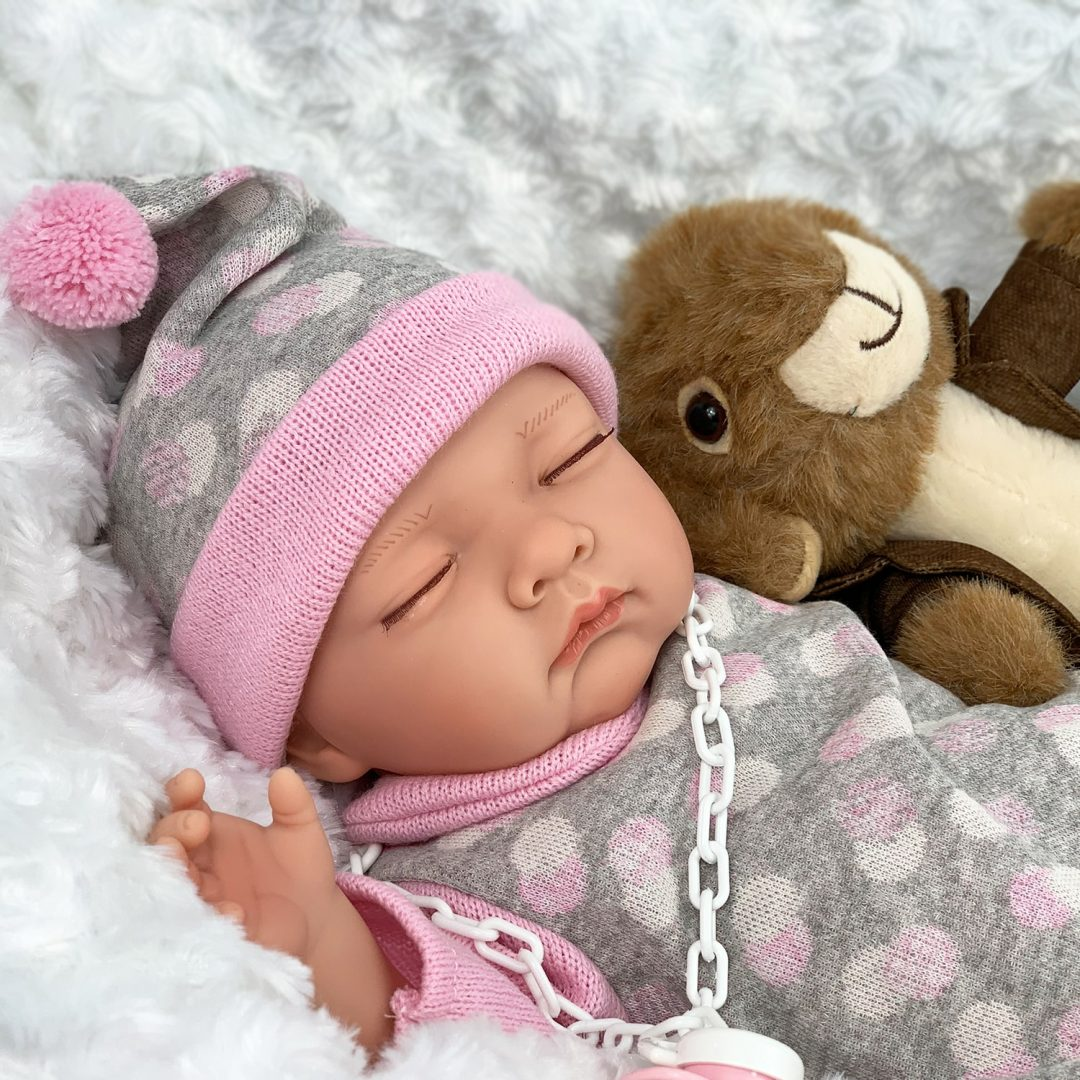 Sleepy Head Play Doll with Rabbit Mary Shortle
