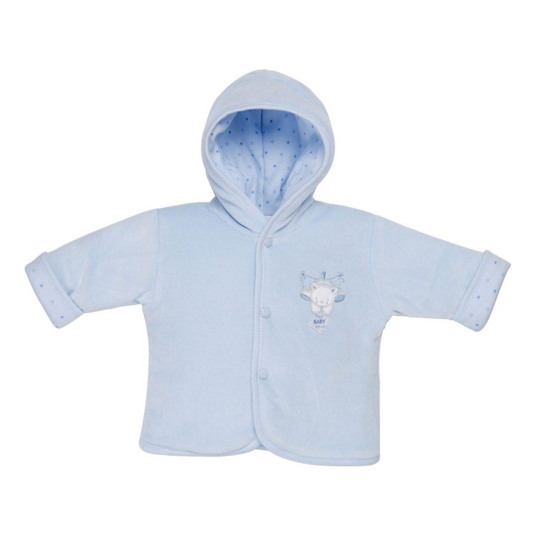 Tiny Baby Bear Jacket Blue Mary Shortle