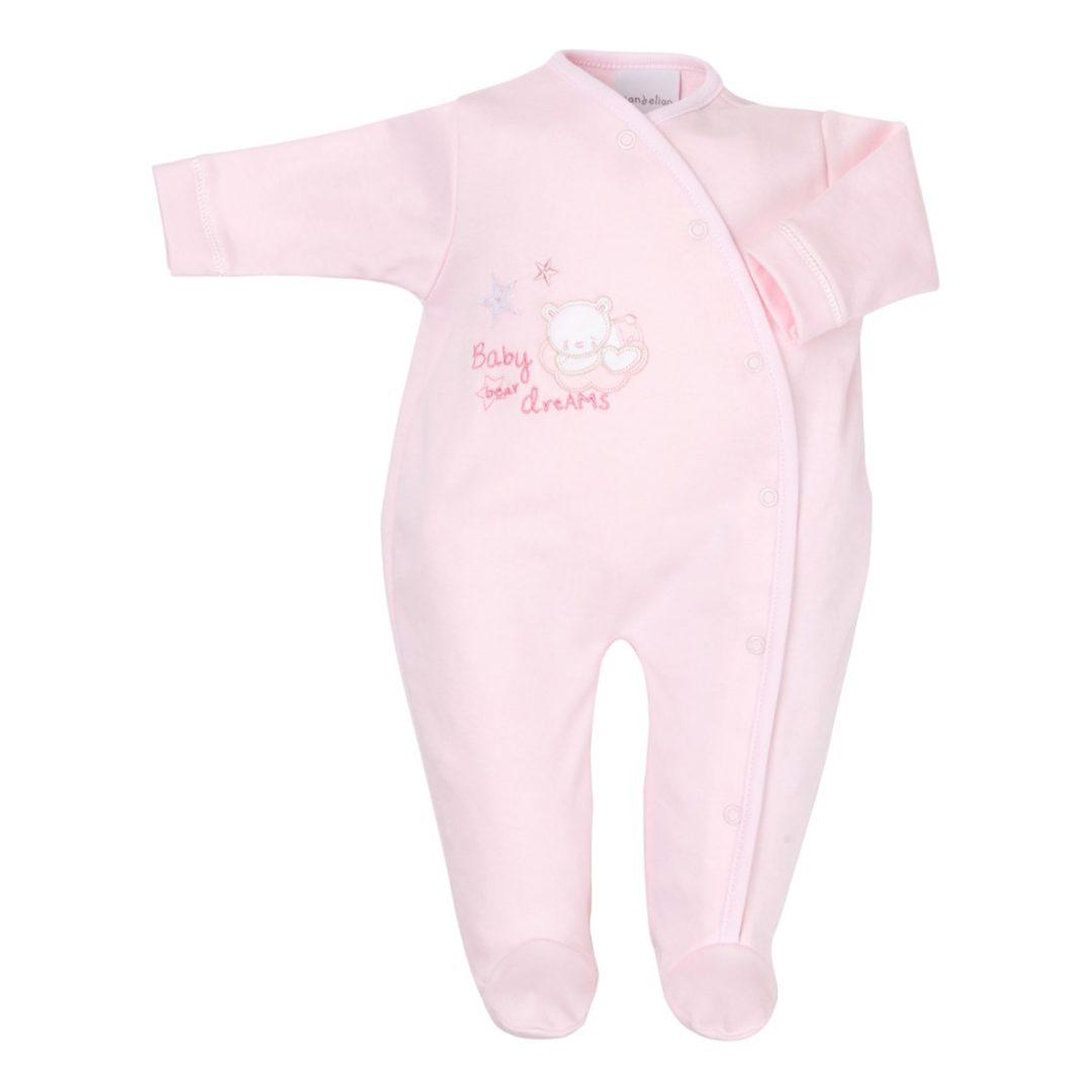 Tiny Bear Cotton Sleepsuit Mary Shortle