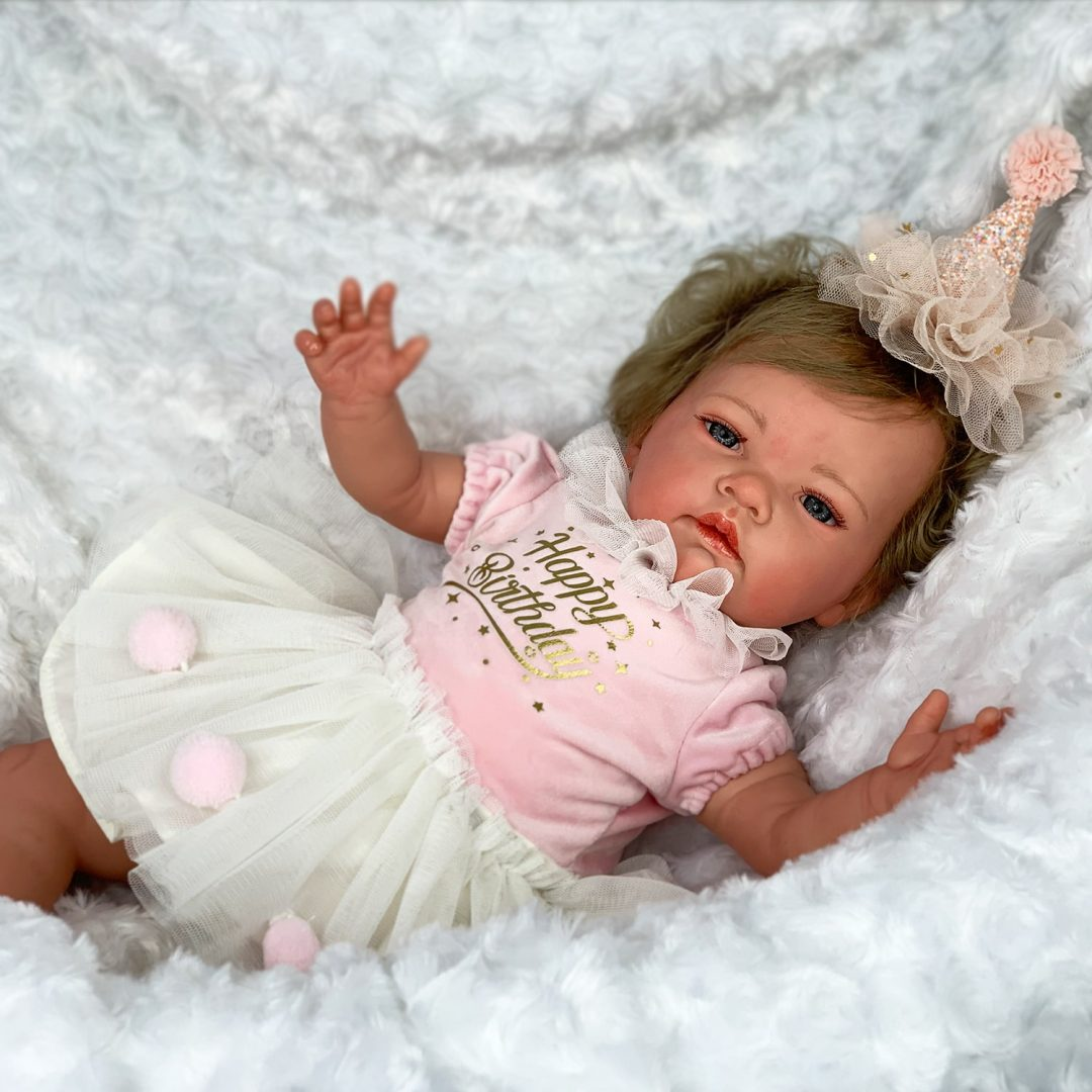 Birthday Princess Reborn Girl Doll Mary Shortle