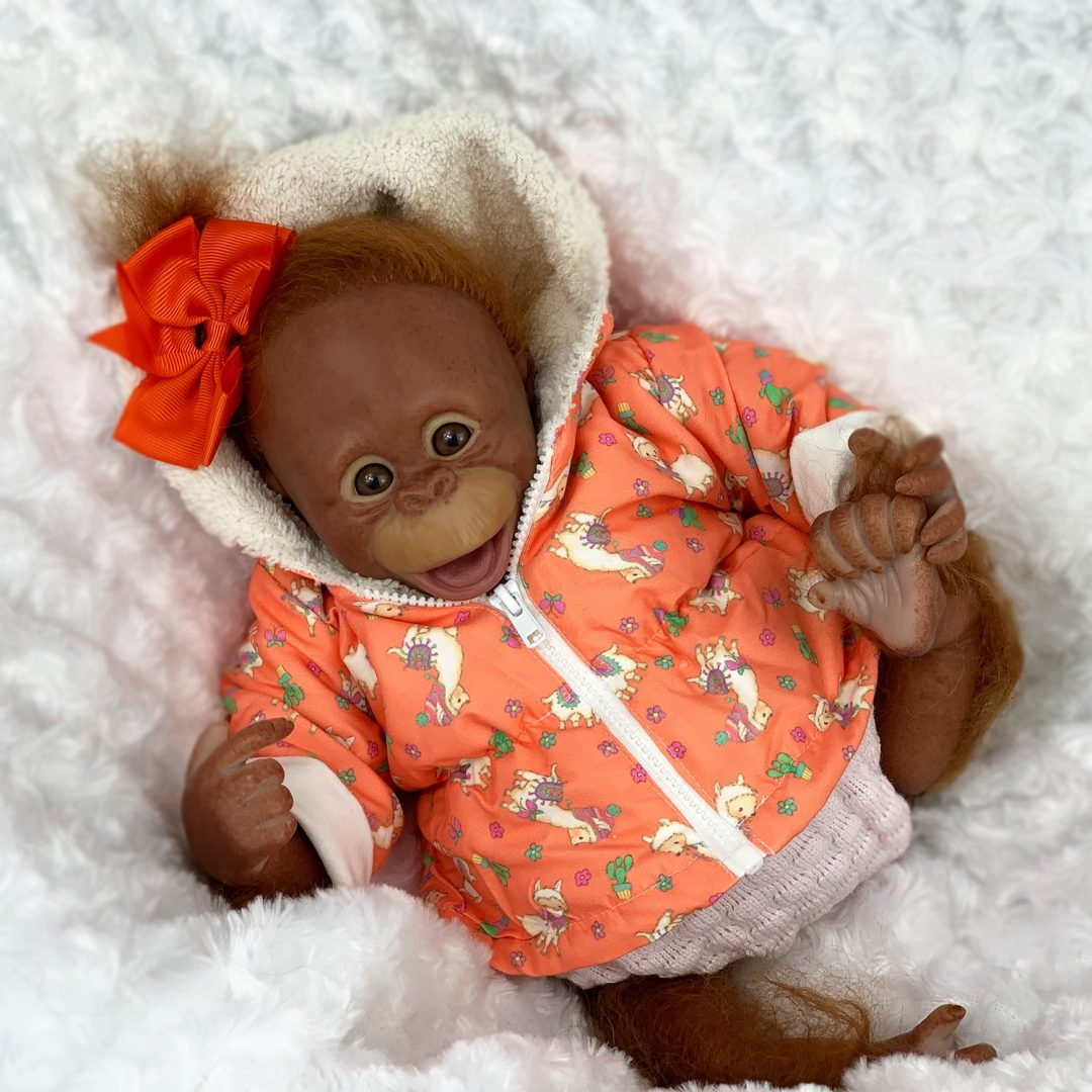Boo Monkey Reborn Girl Mary Shortle