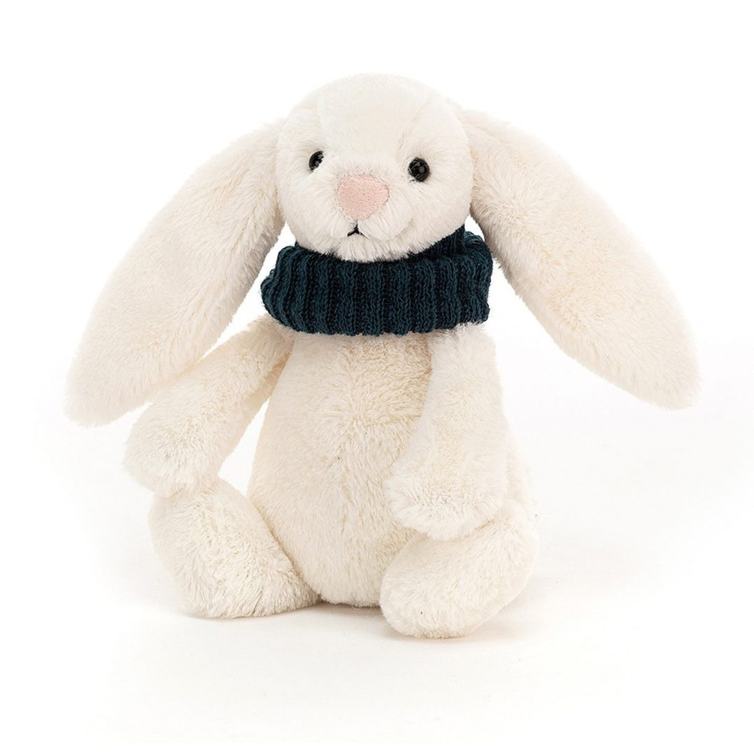 Bashful Snug Bunny Teal Jellycat Teddy Mary Shortle