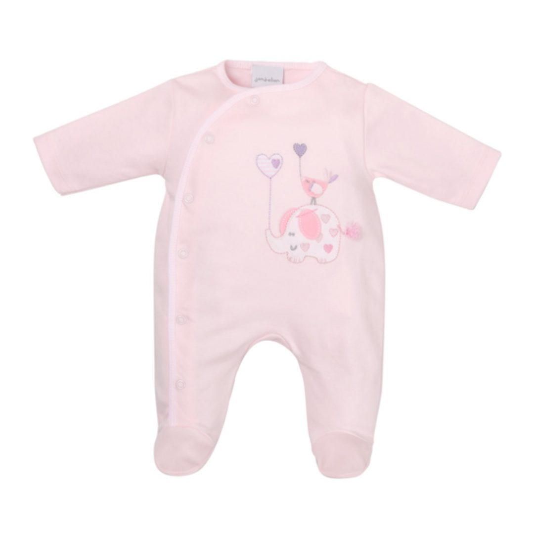 Elephant & Bird with Balloon Cotton Sleepsuit