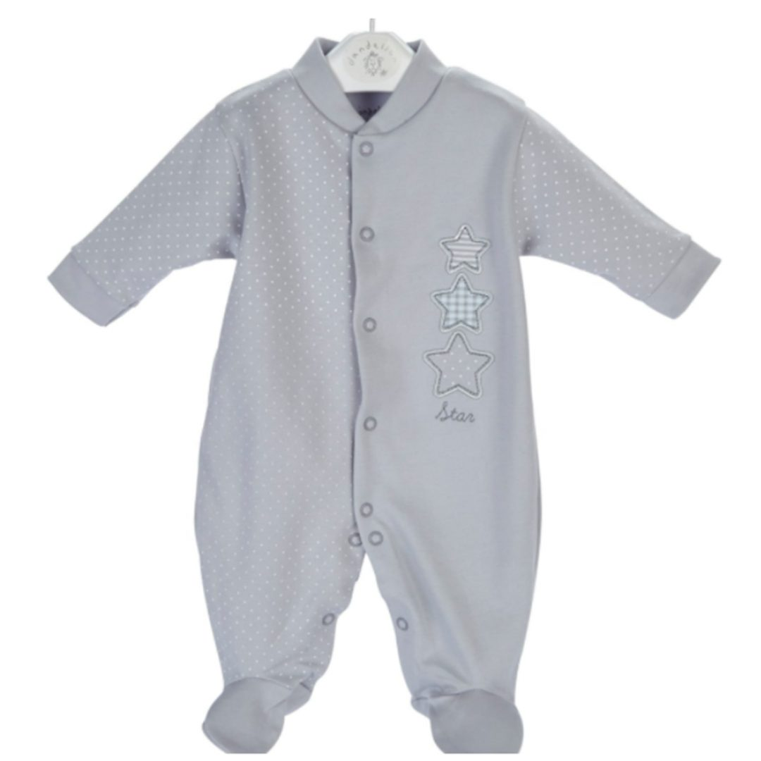Triple Stars Cotton Sleepsuit