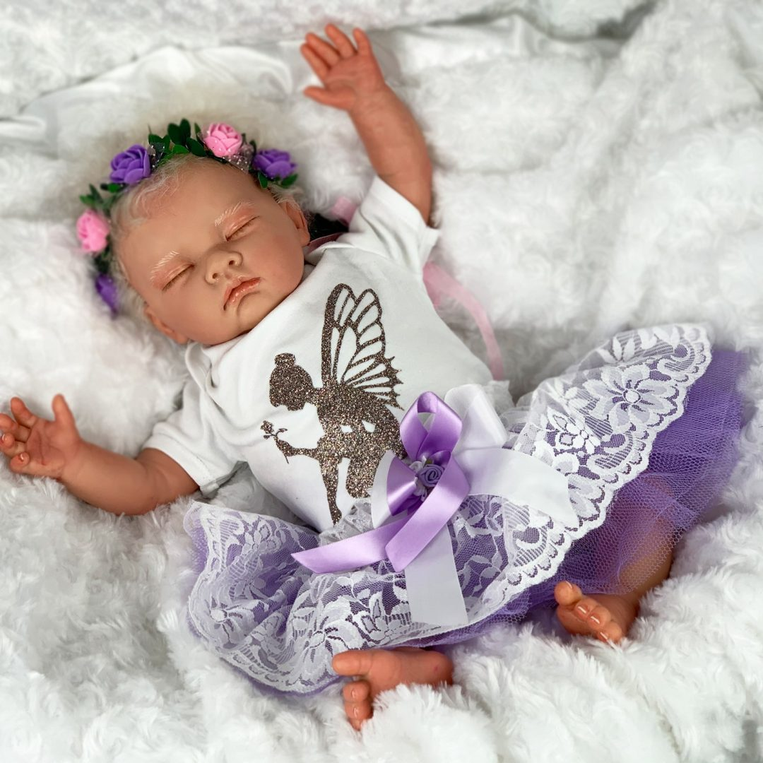 Lavender Fairy Baby Doll Mary Shortle
