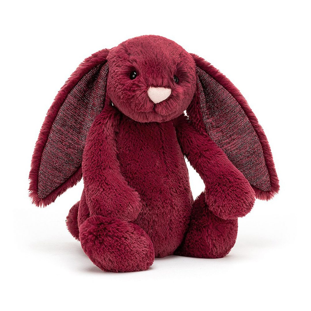 Bashful Sparkly Cassis Bunny Teddy Medium