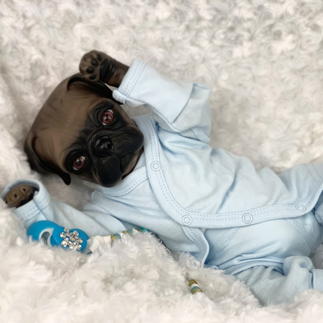 Buster Pug Baby Reborn Doll Mary Shortle