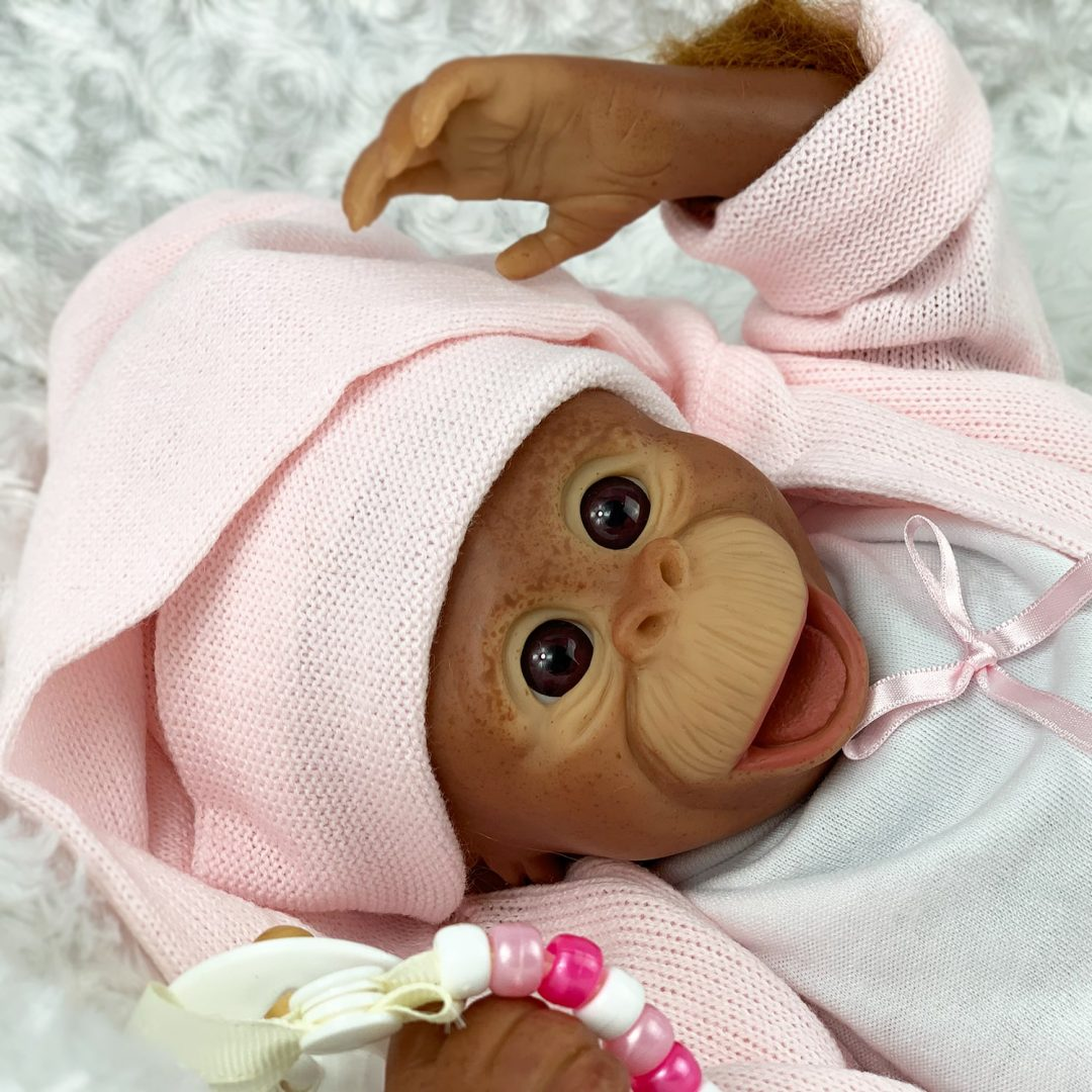 Cissy Reborn Baby Monkey Doll Mary Shortle