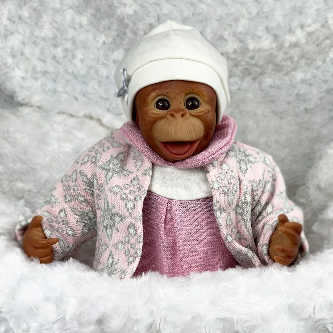 Fleur Reborn Baby Monkey Doll Mary Shortle