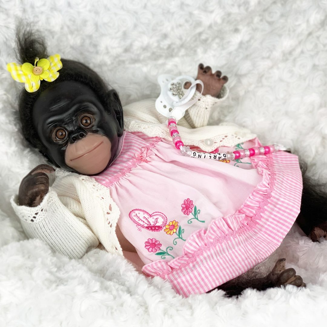 Kiki Baby Monkey Doll Mary Shortle