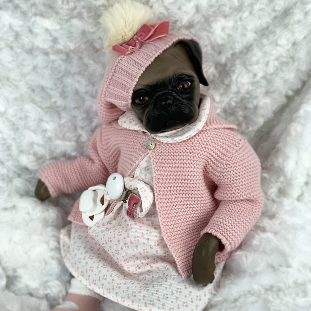 Bailey Pug Reborn Girl Mary Shortle