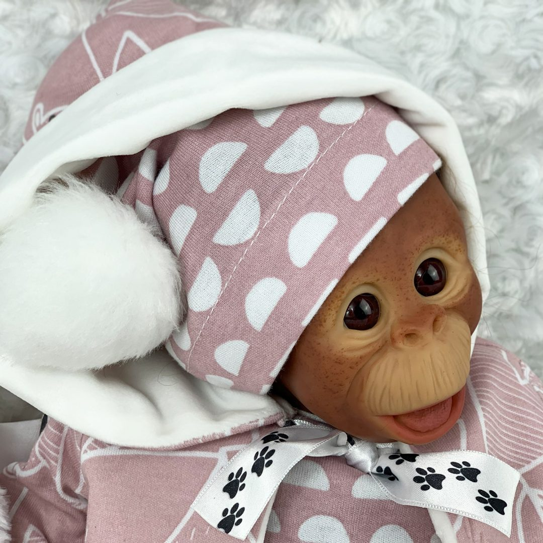 Lula-Bell Reborn Monkey Girl Doll Mary Shortle
