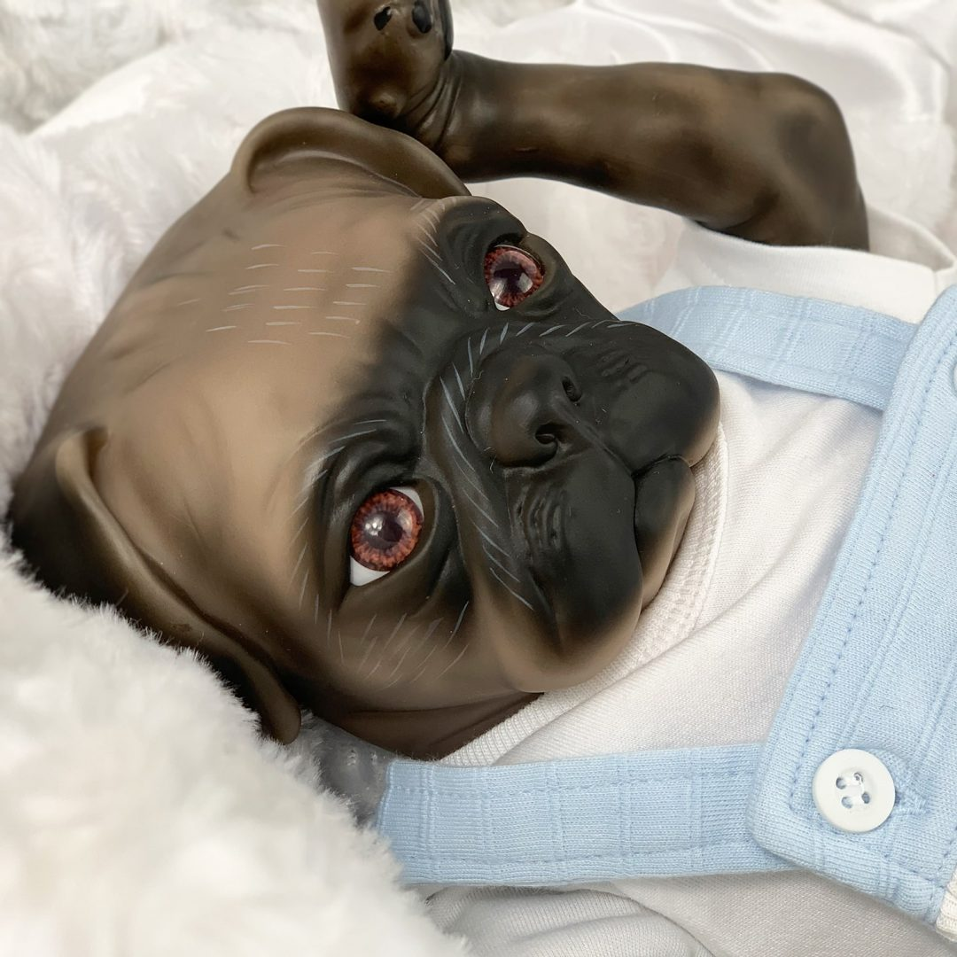 Magnet Pug Reborn Doll Mary Shortle
