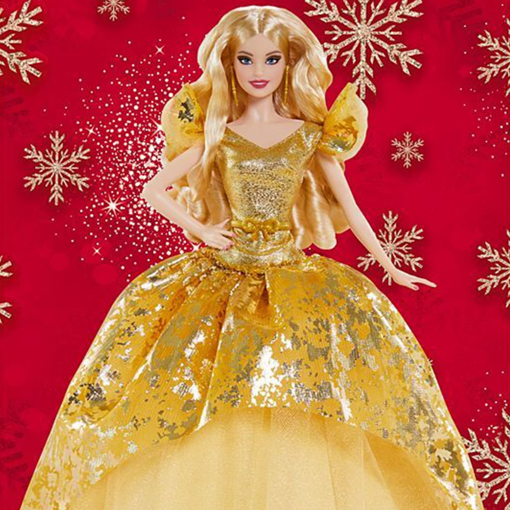 2020 Holiday Barbie Doll Blonde Long Hair Mary Shortle