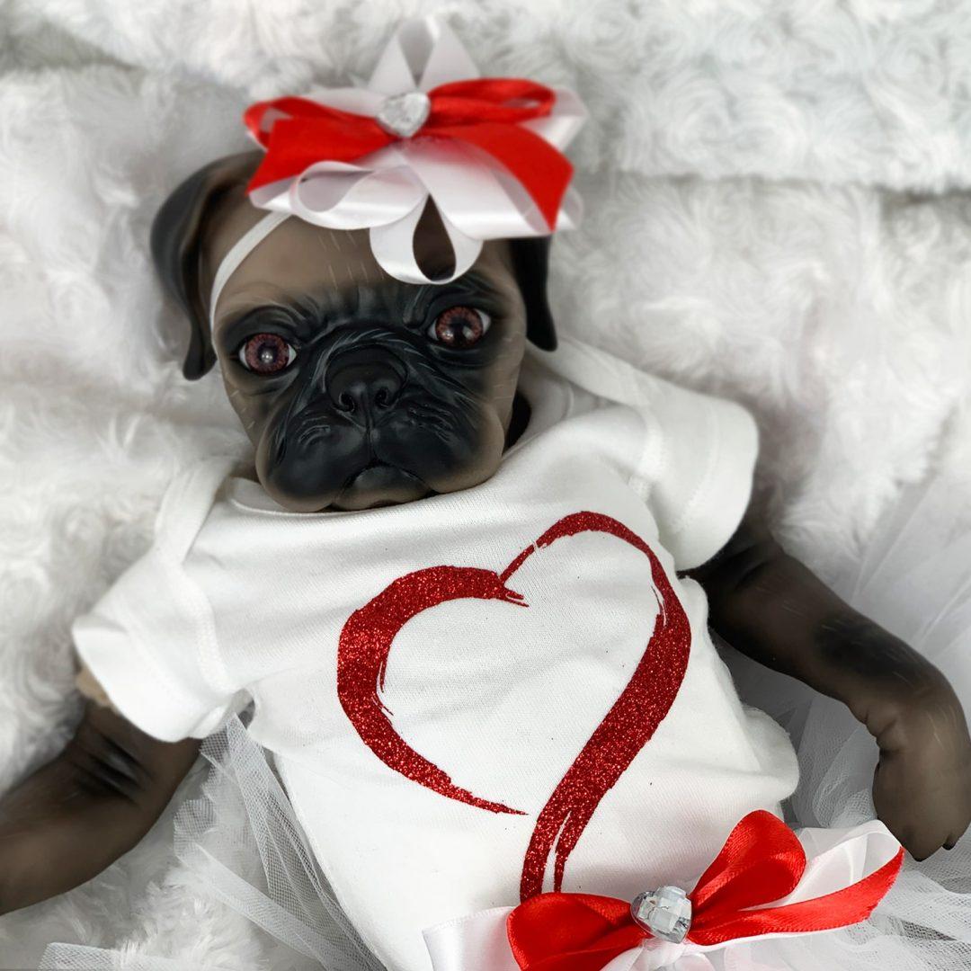 Little Darling Reborn Girl Pug Doll Mary Shortle