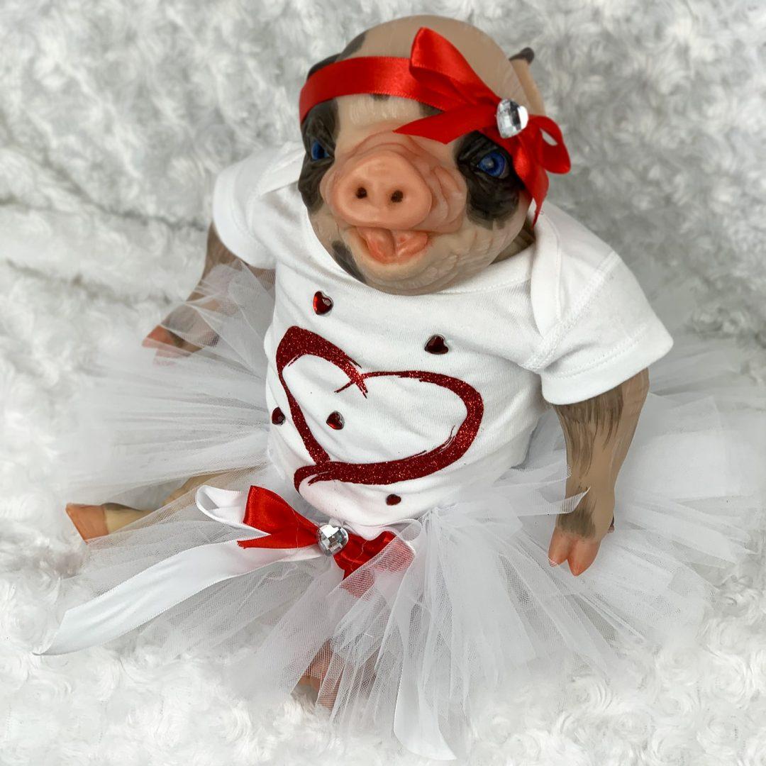 Maisie Reborn Piglet Doll Mary Shortle