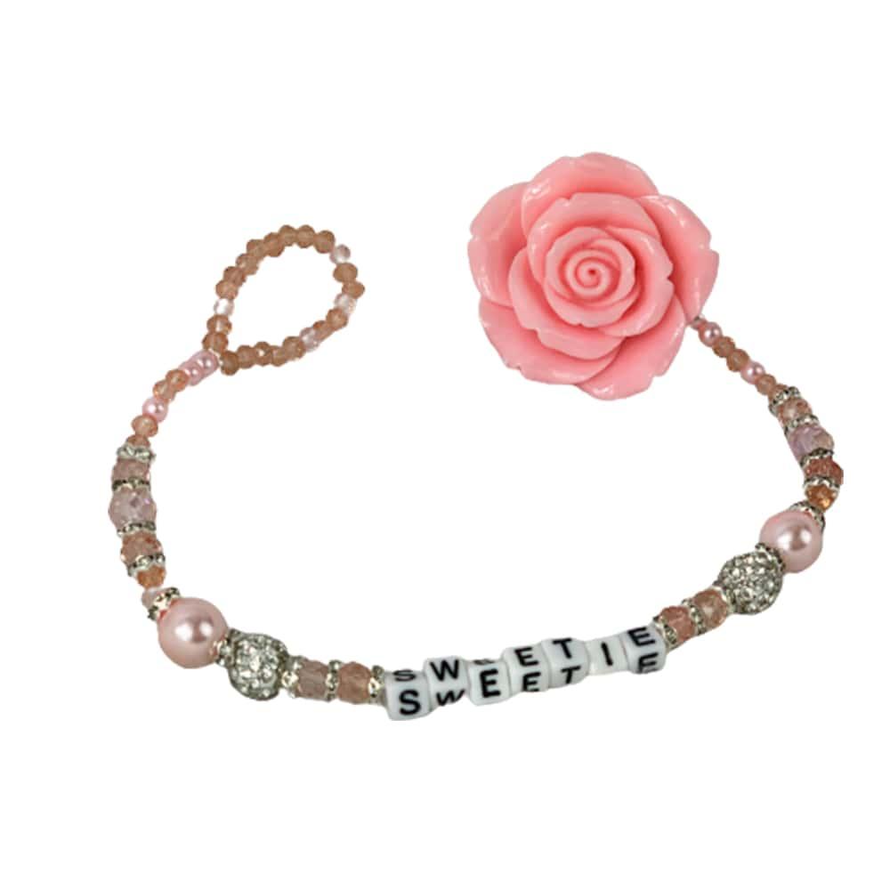 Sweet rose crystal dummy clip