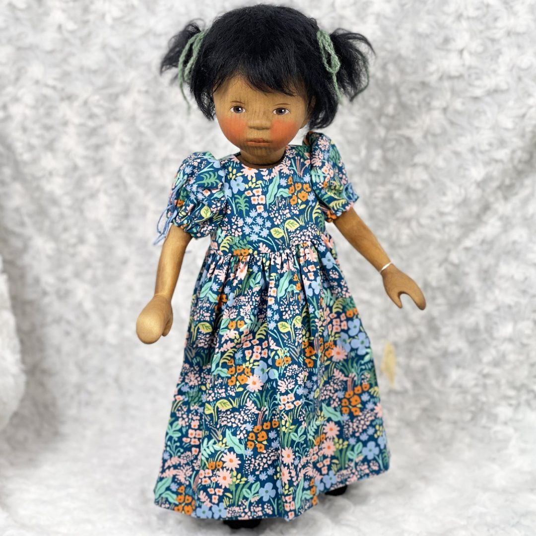 African American Girl in Blue Dress 2-min