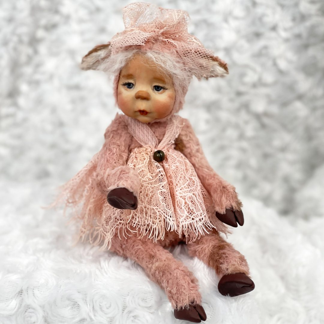 Honey Kisses Baby Calf doll-min
